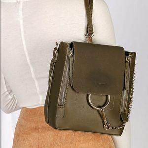 Sidewalk Stunner Olive Green Backpack